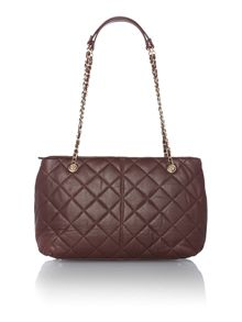 Quilt burgundy medium tote bag
