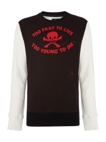 Too Fast To Live Graphic Jumper