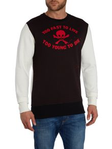 Vivienne Westwood Too Fast To Live Graphic Jumper