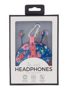 Floral earphones with keyring pouch