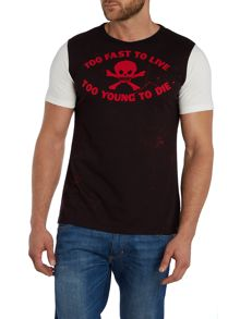 Slim Fit Too Fast To Live Graphic T-Shirt