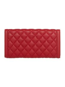 Red quilt large flap over purse