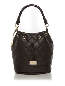 Quilt black bucket bag