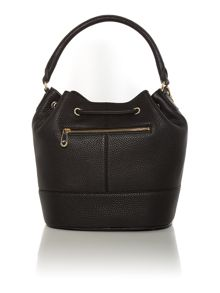 Tribeca black bucket bag