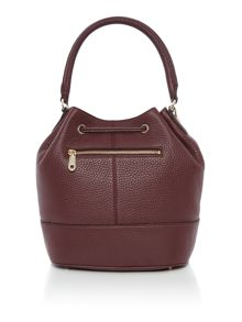 Tribeca burgundy bucket bag