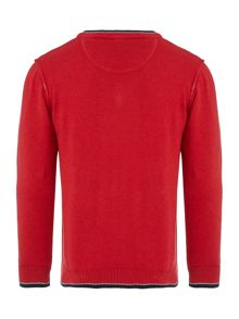 Boys long sleeved v-neck jumper