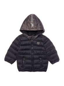 Armani Junior Boys Padded Jacket with Detachable Hood