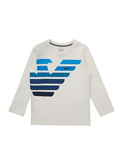 Armani Junior Boys long sleeved t-shirt with stripe