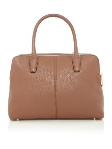 Tribeca tan double zip satchel bag
