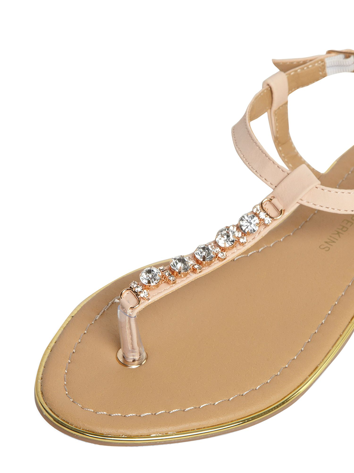 Gem Trim T Bar Sandals