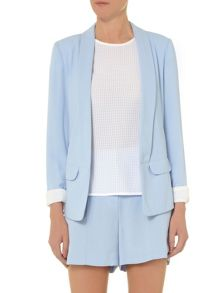 Seamed collar jacket