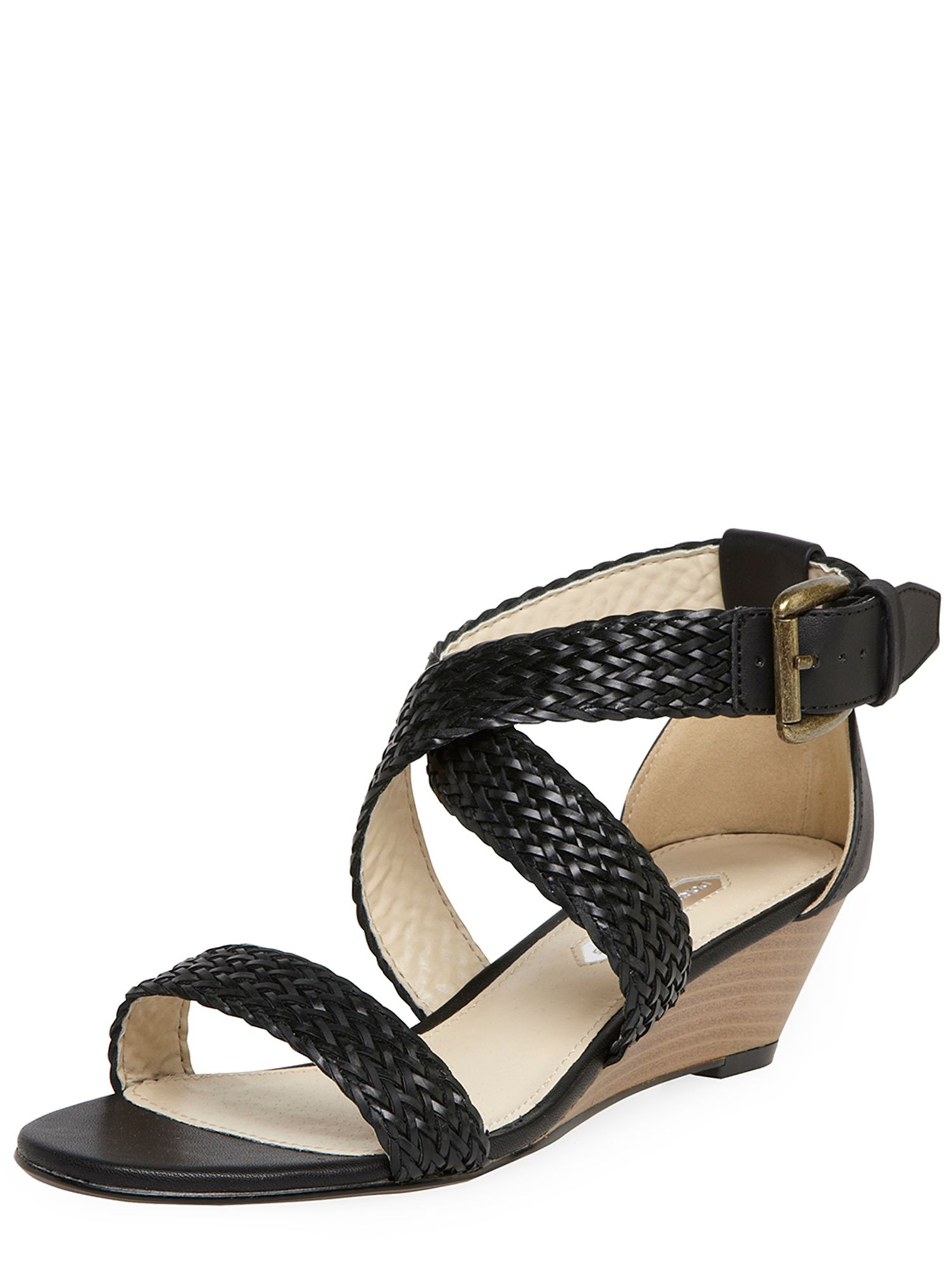 Woven Low Heel Wedges