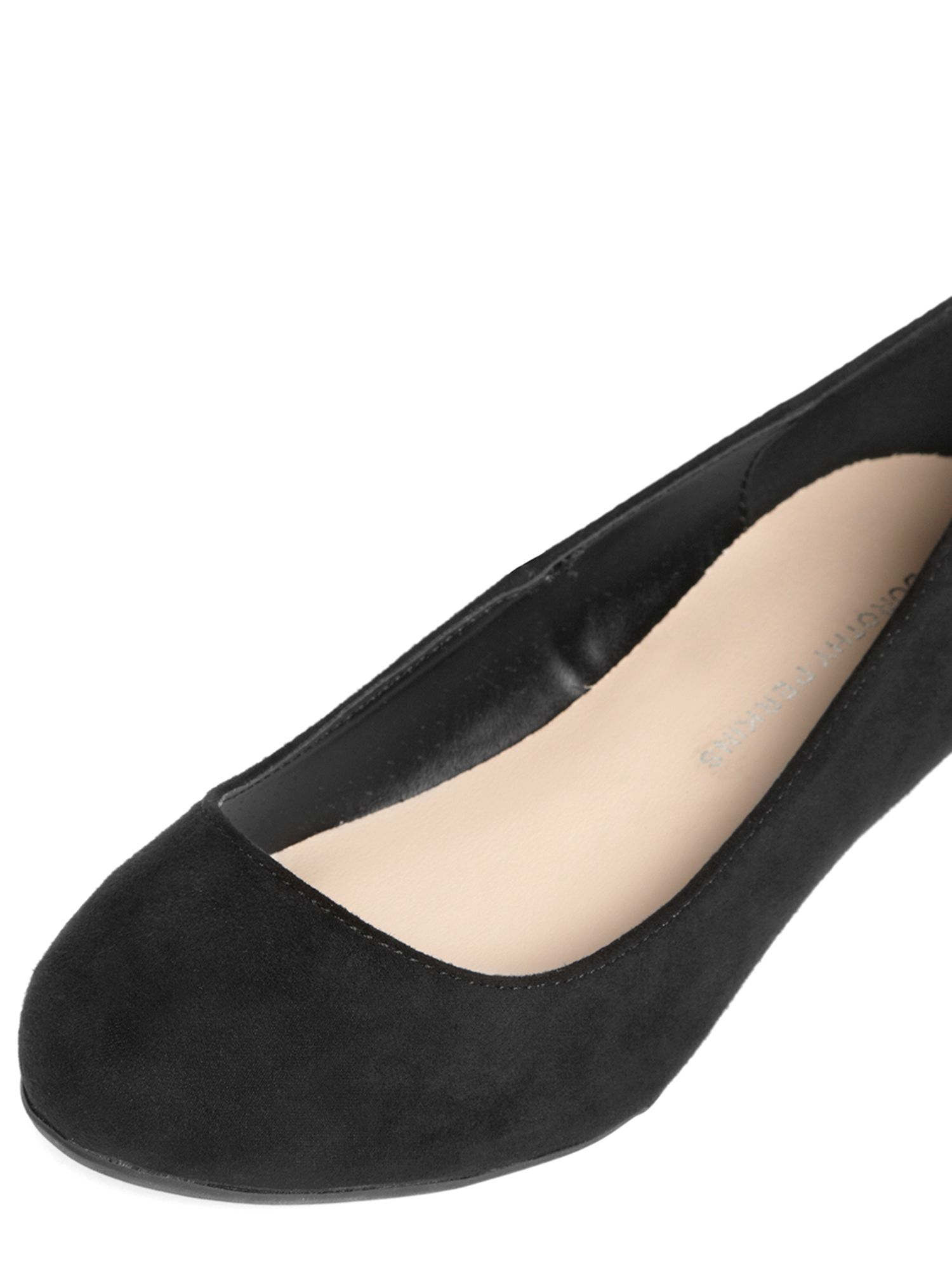 Low Heel Wedge Court Shoes