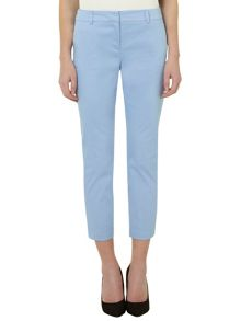 Cotton skinny cropped trousers