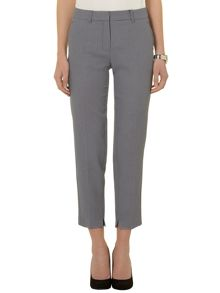 Textured ankle grazer trousers