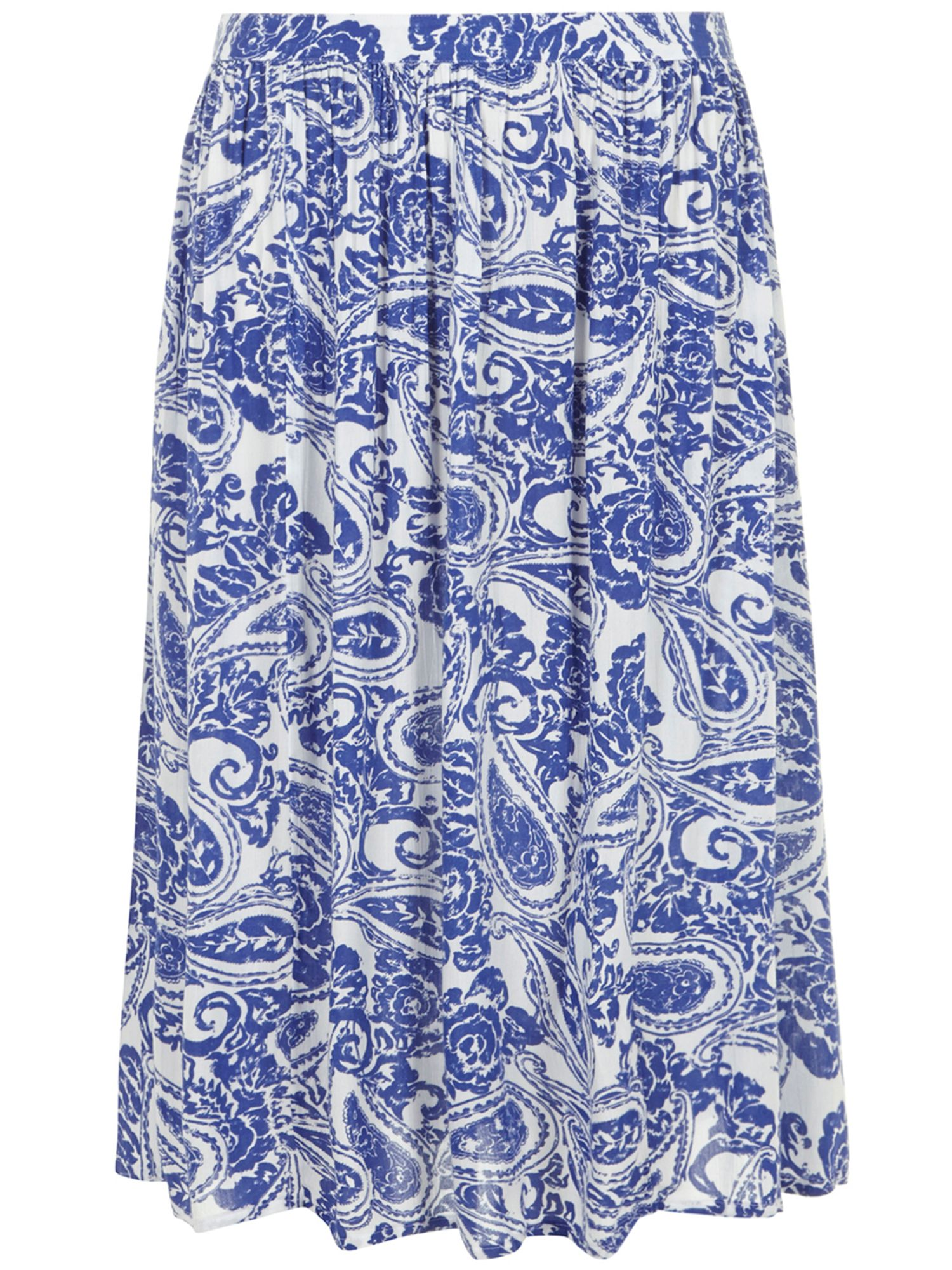 Crinkle effect midi skirt