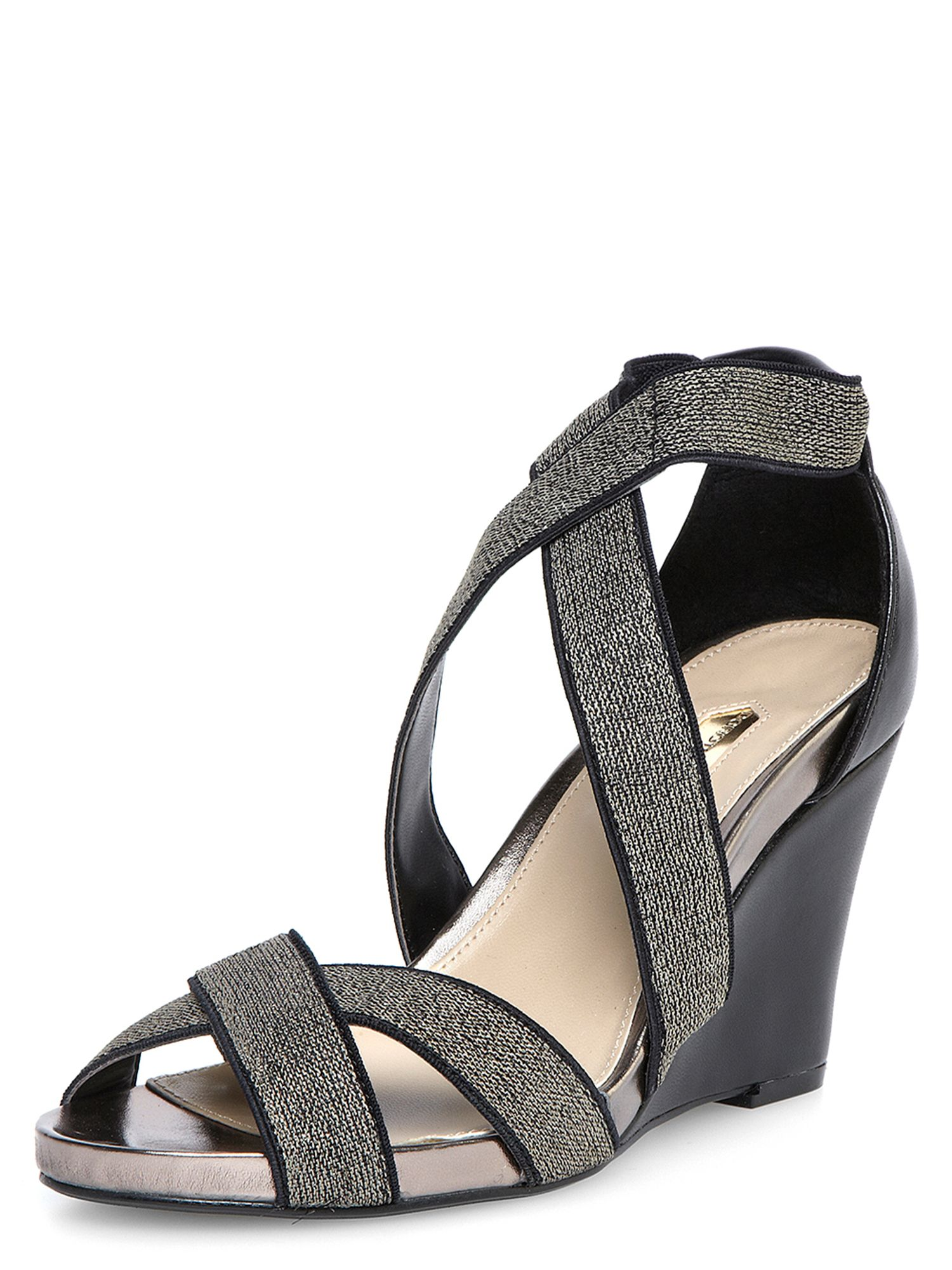 Elastic mid wedge shoe