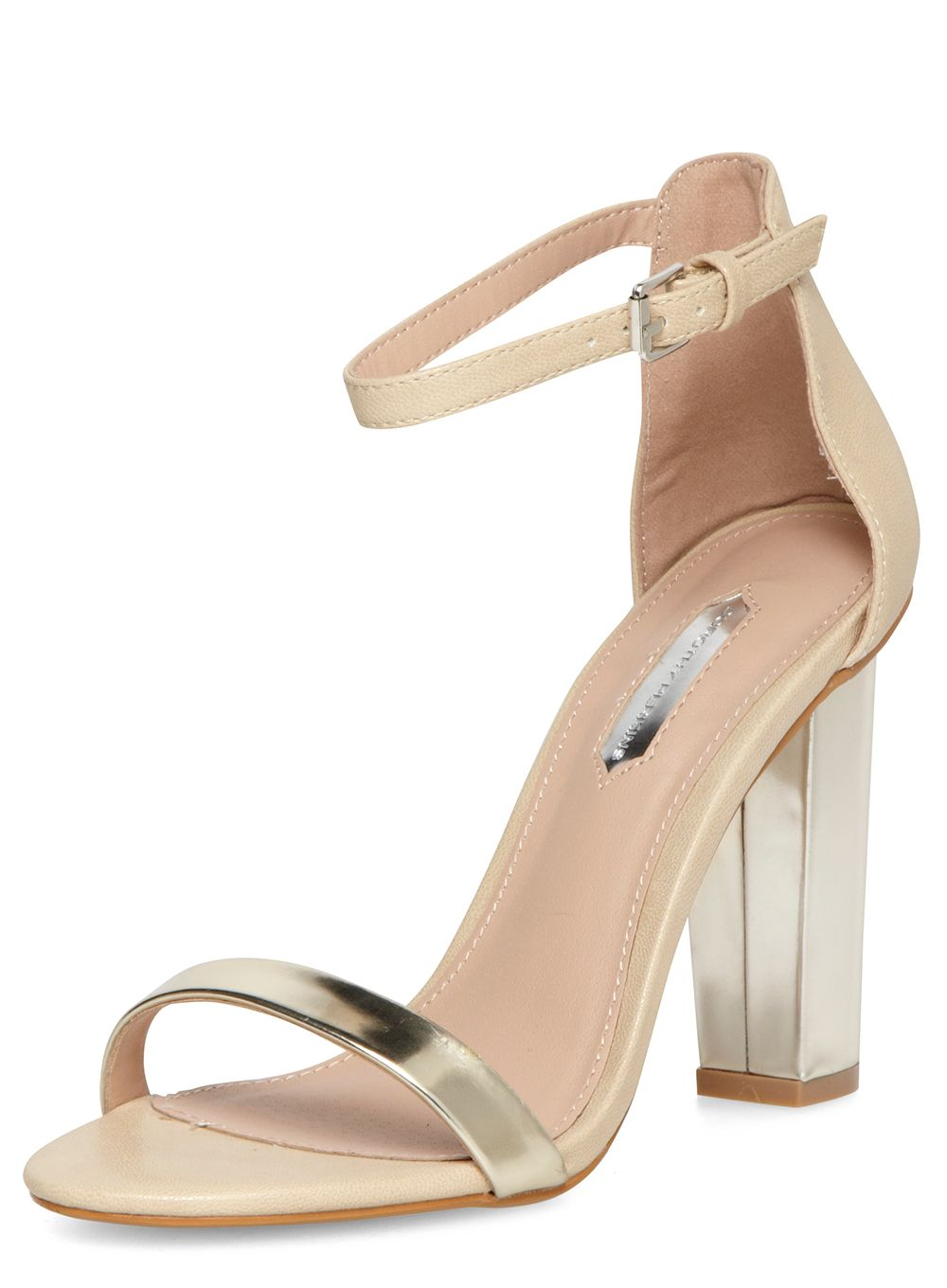 High Blocked Heel Sandals