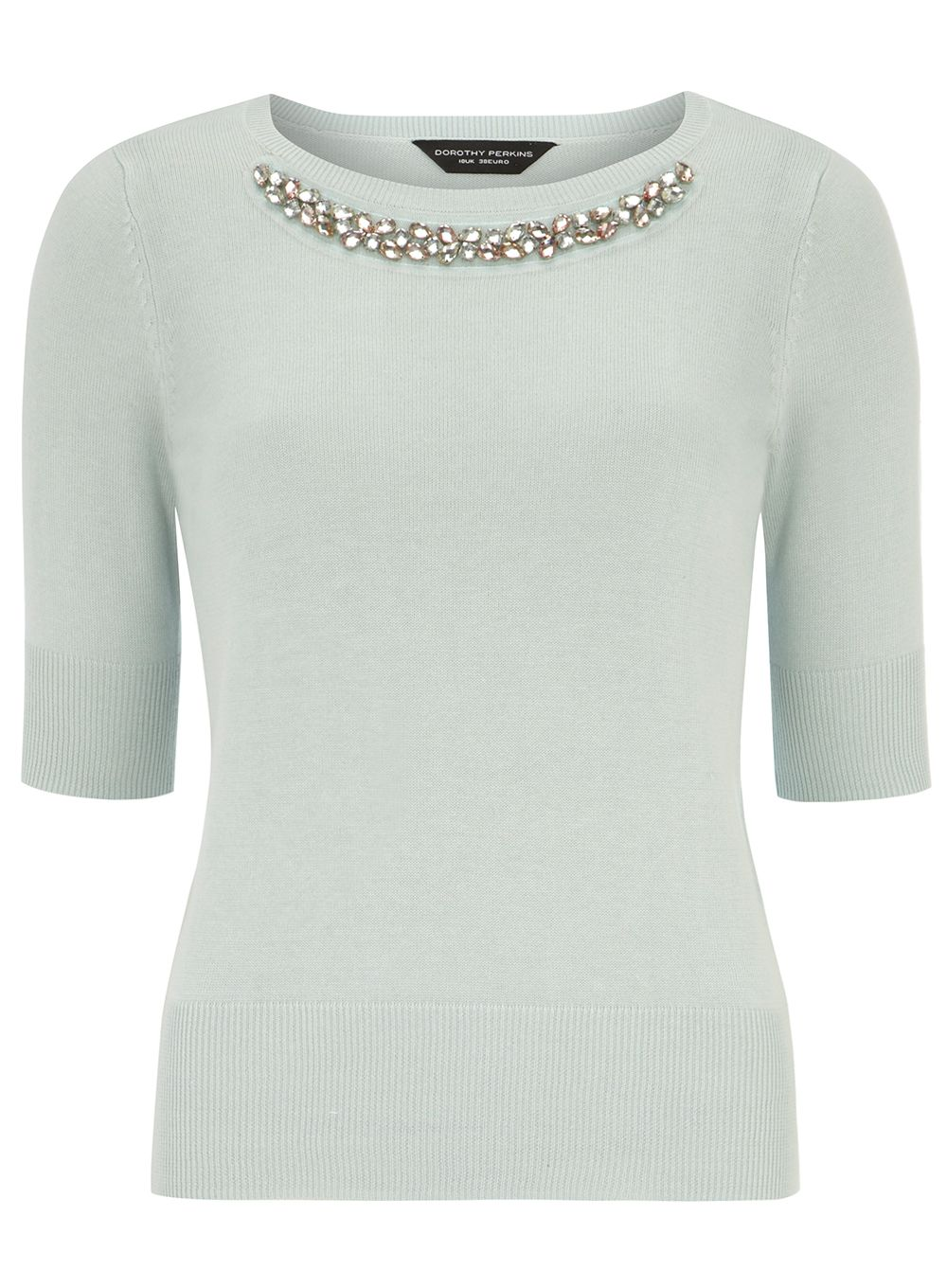 Embellished Half Sleeve Jumper