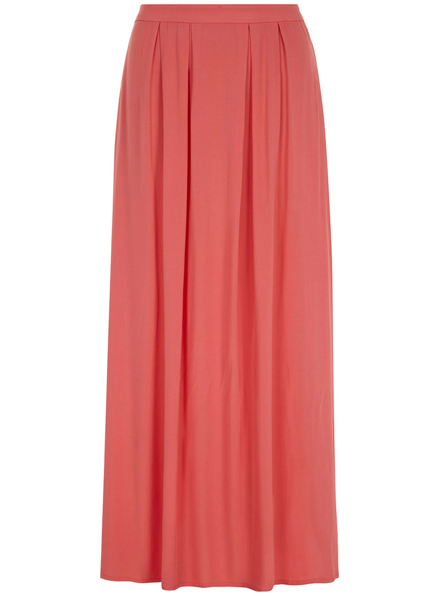 Pleat front maxi skirt