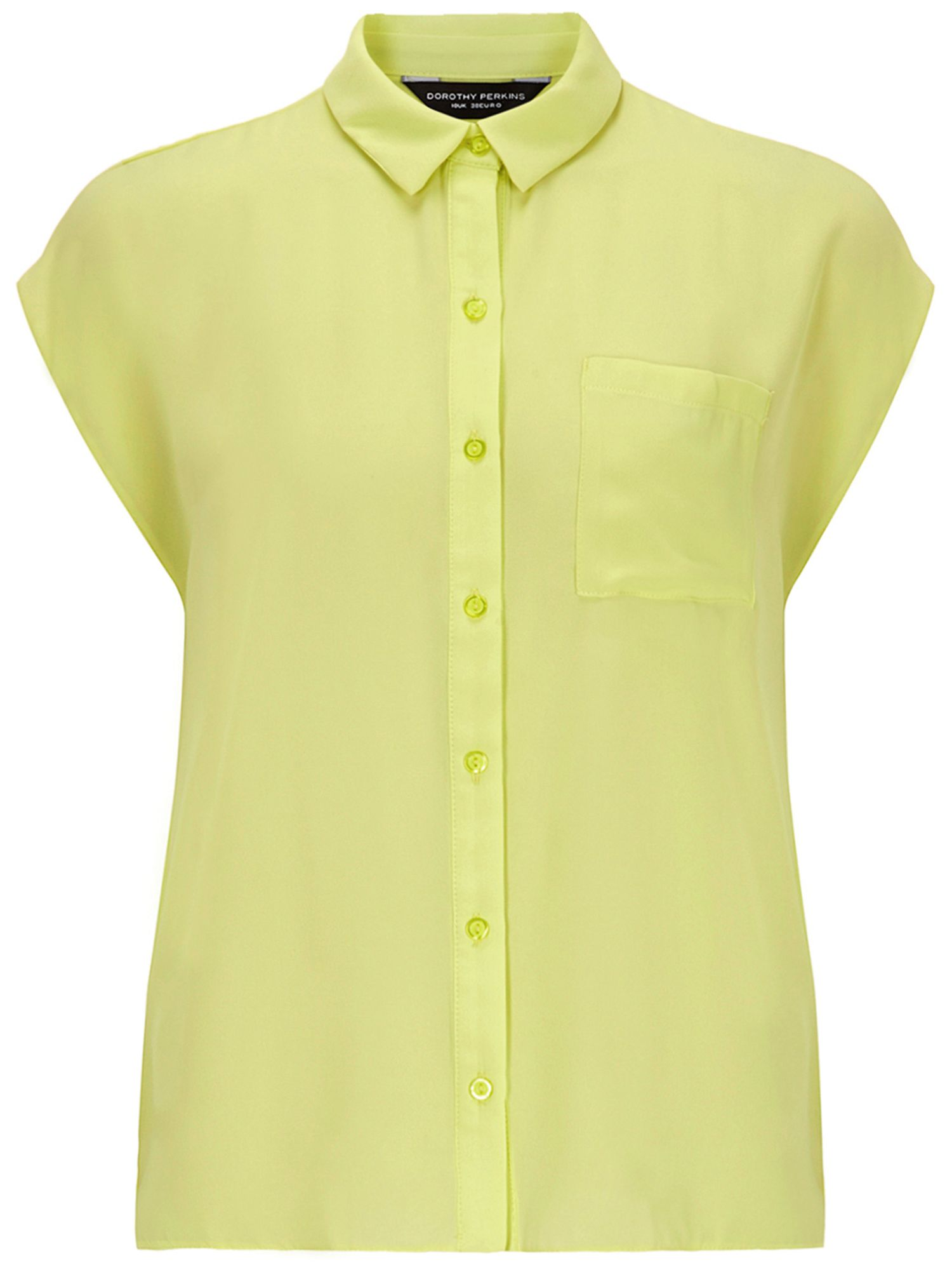 Boxy pocket sleeveless shirt
