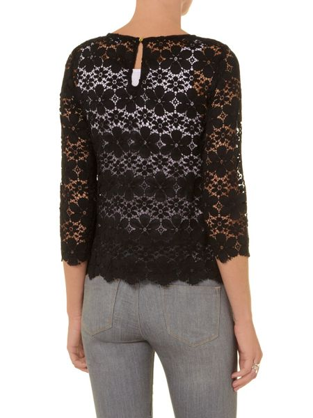 Dorothy Perkins Embroidered floral lace top
