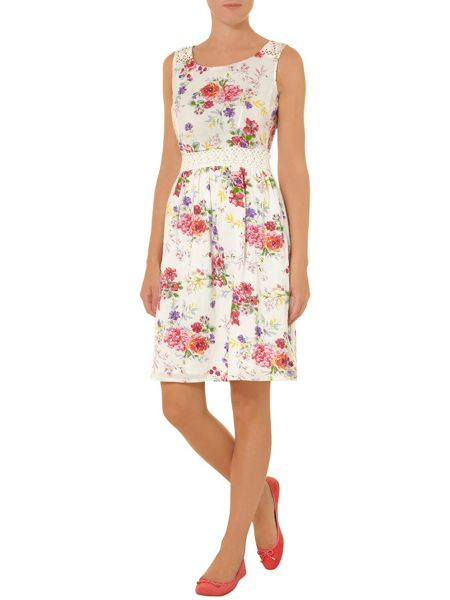 Dorothy Perkins Floral sundress with crochet inserts