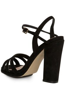 Black block heel sandal