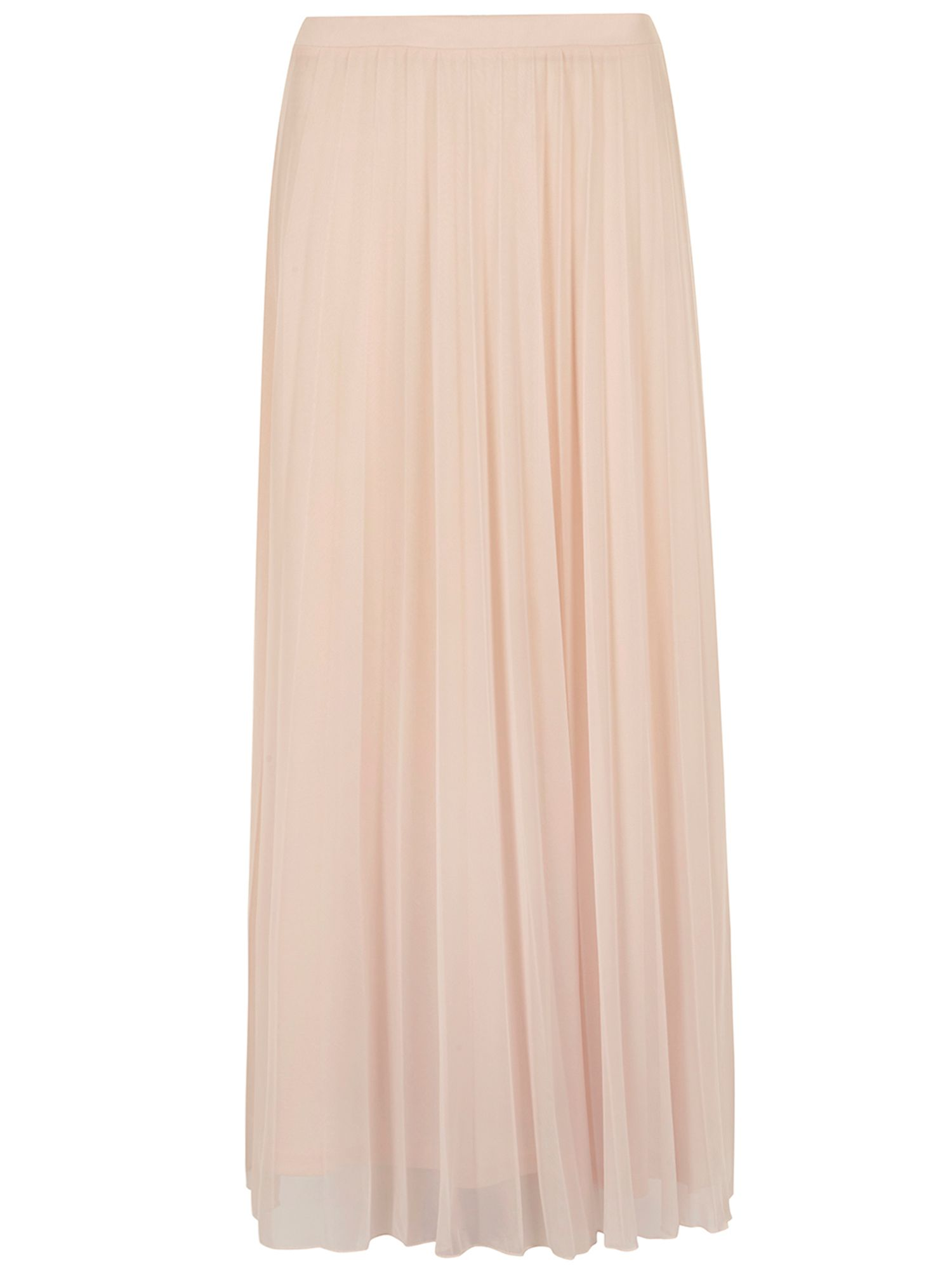 Mesh pleated maxi skirt