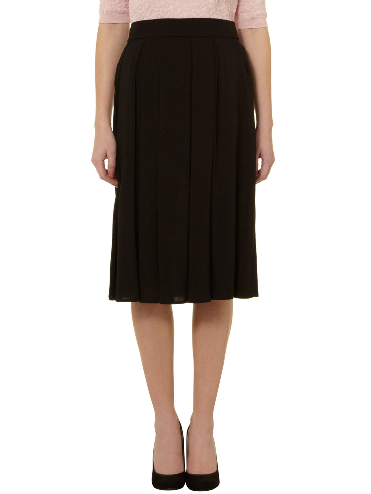 Simple plain midi skirt