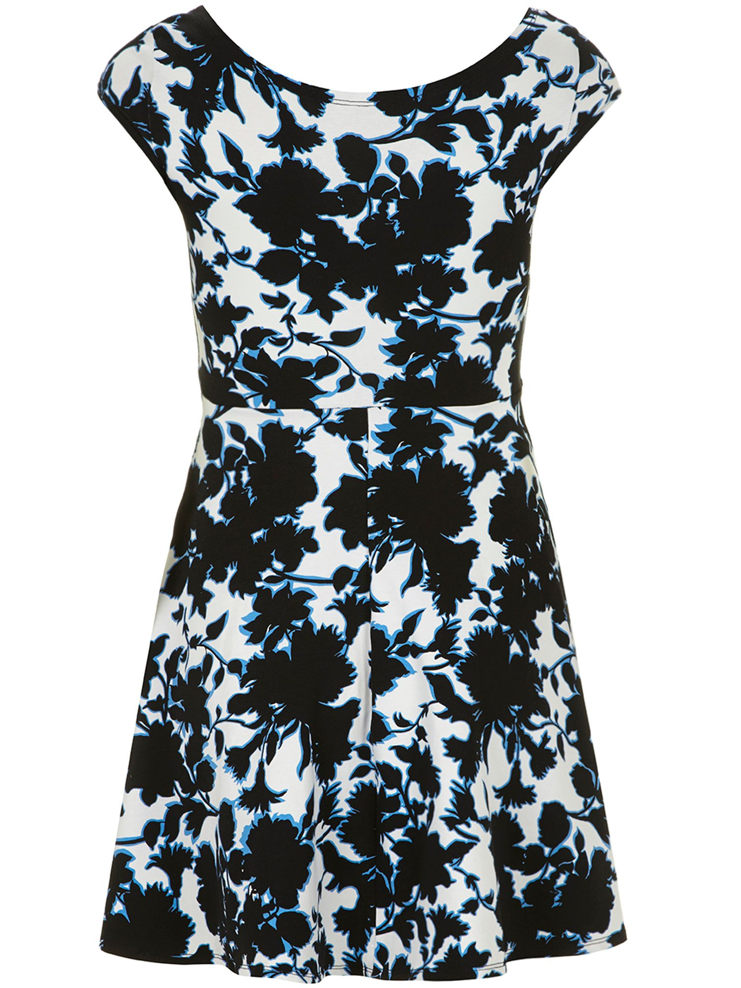 Petite printed bardot dress