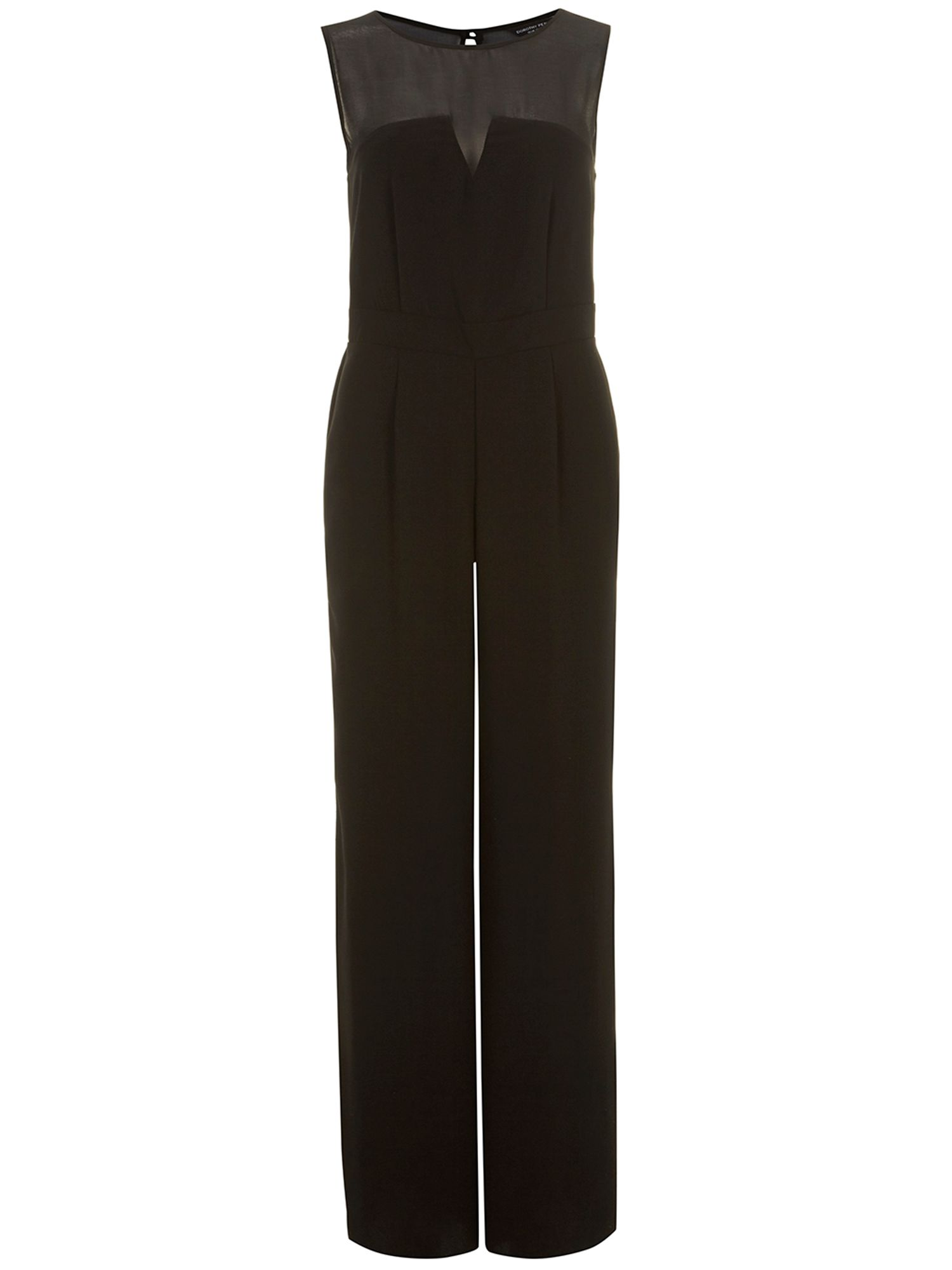 Crepe sheer panelled jumpsuit
