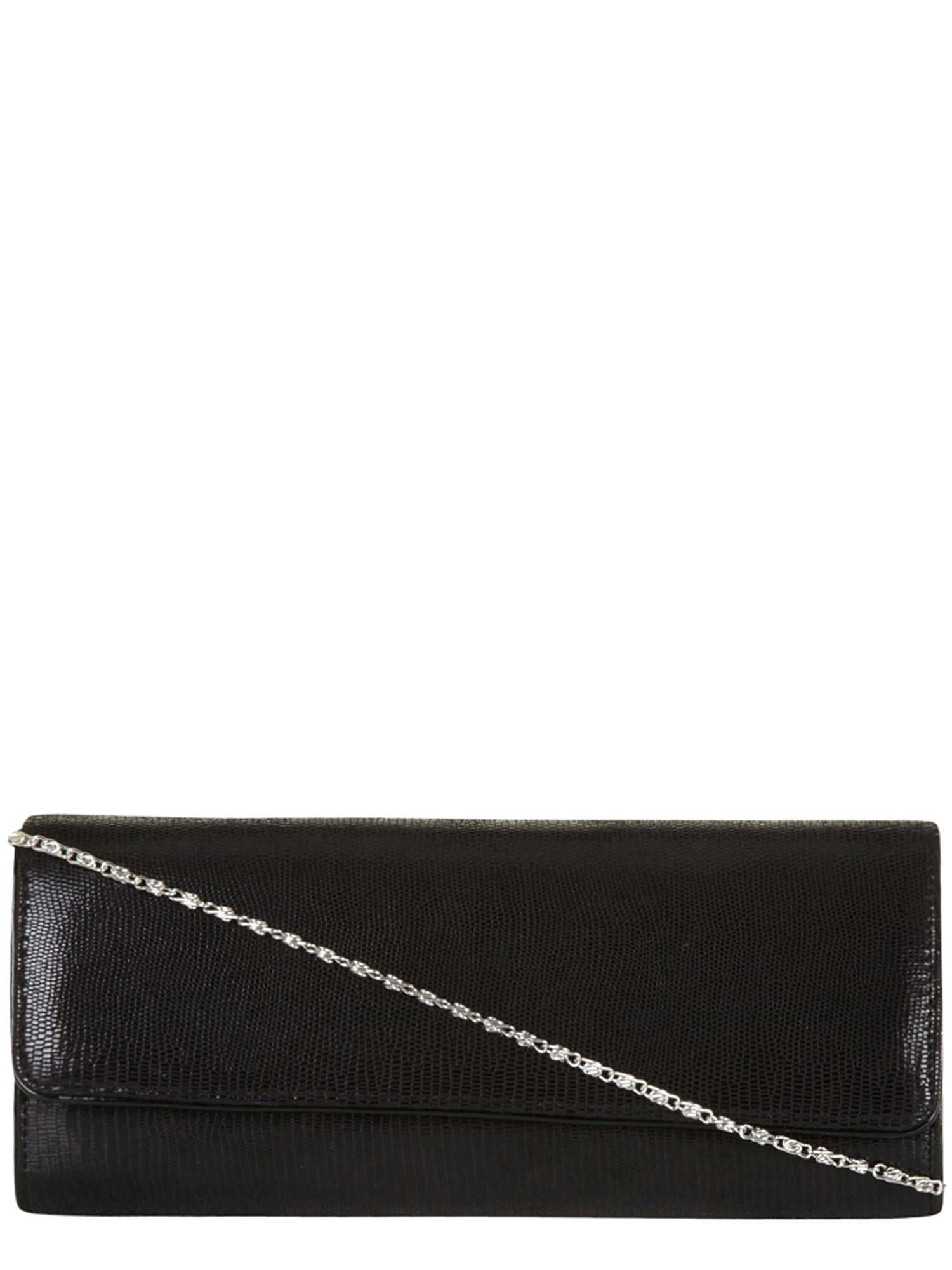 Lizard Effect Clutch Bag