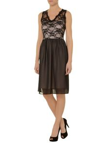 Lace mesh 2 in 1 dress