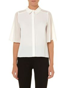 Luxe angel sleeve blouse