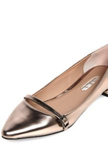 Metallic Pointed Buckle Pumps