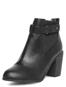 Heeled Ankle Boots With Straps