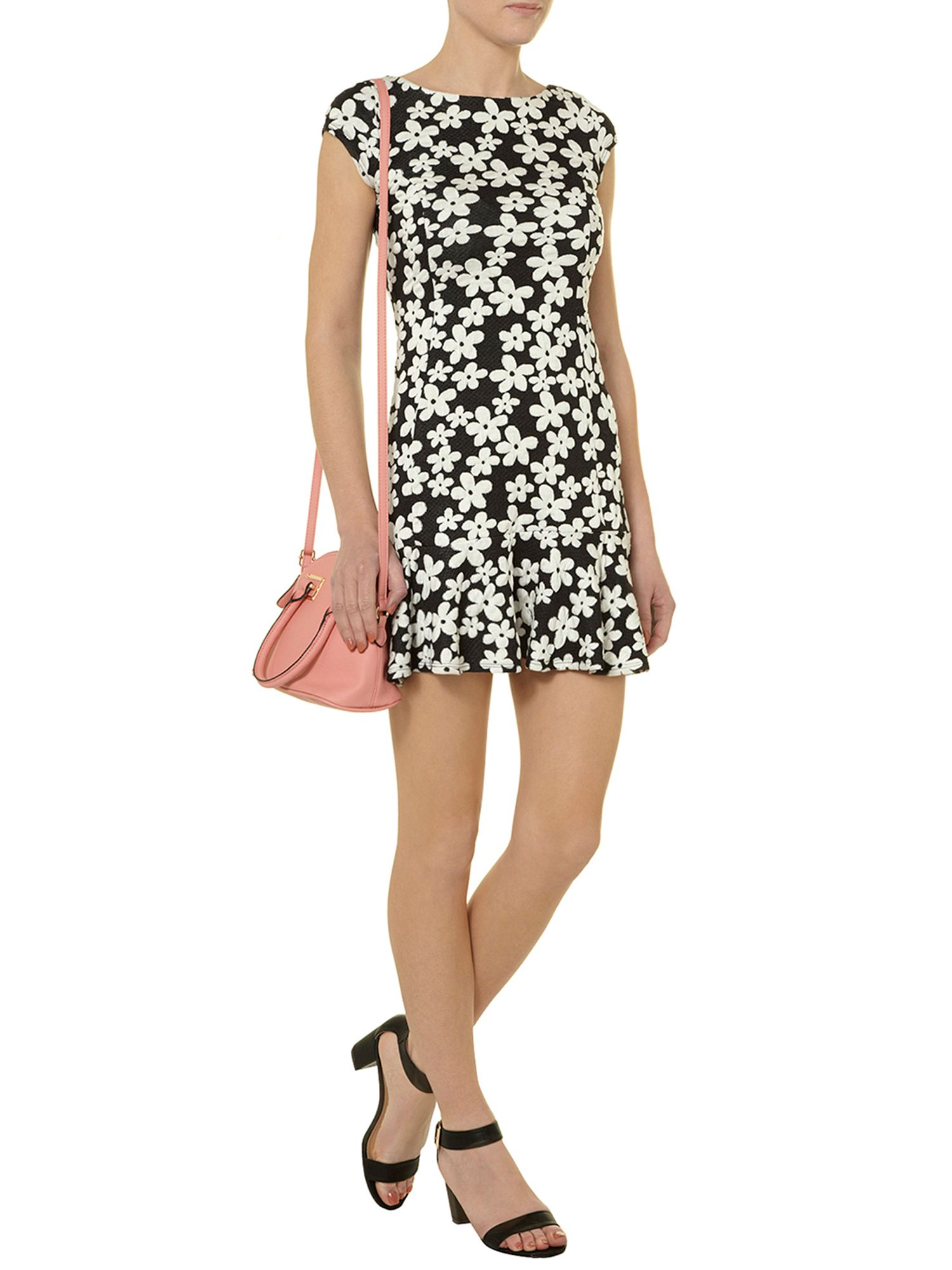 Daisy print pephem dress