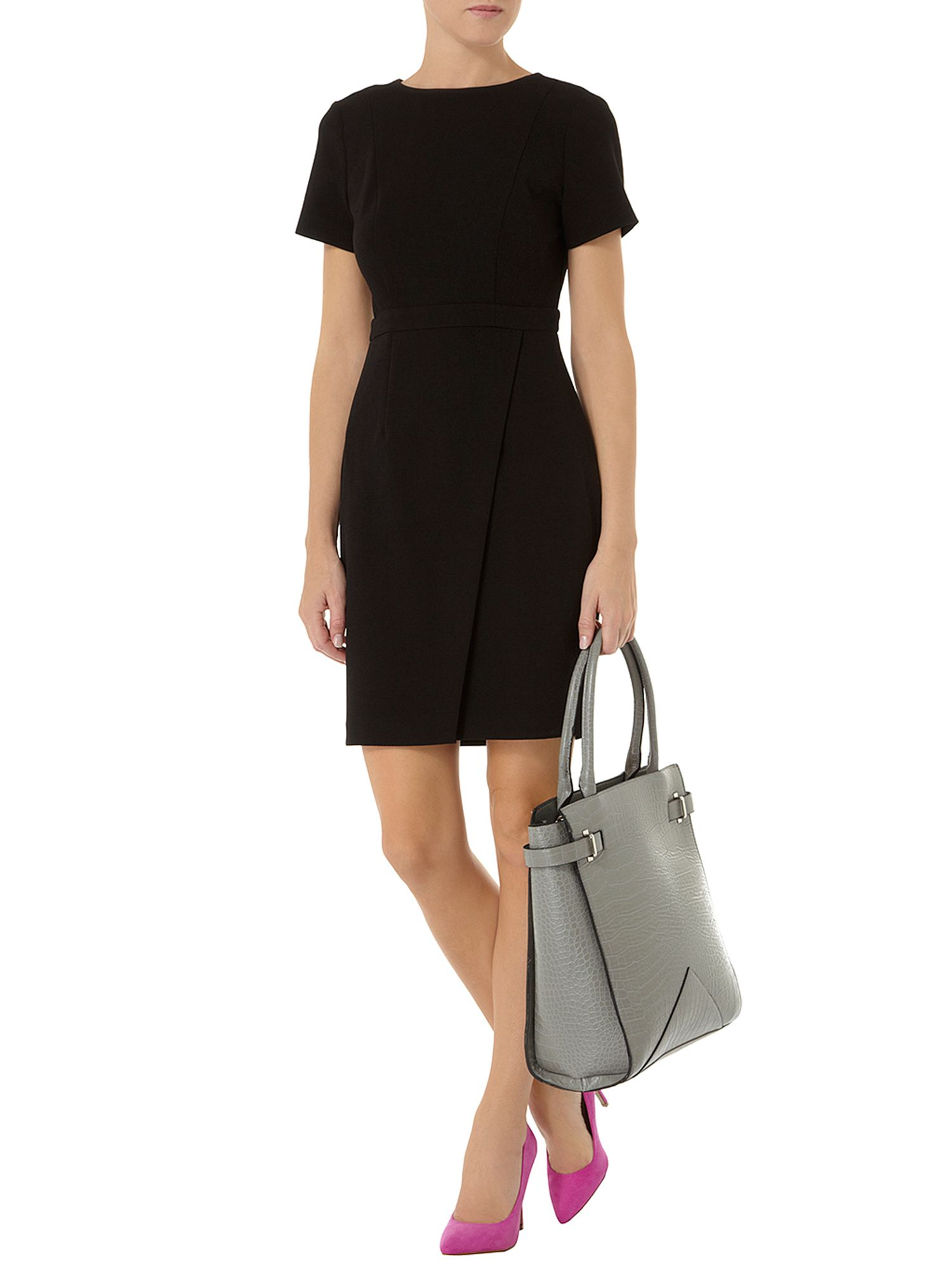 Wrap crepe dress