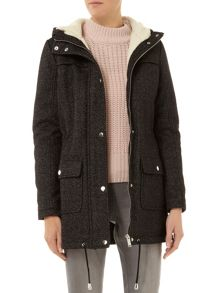 Textured Wool Parka