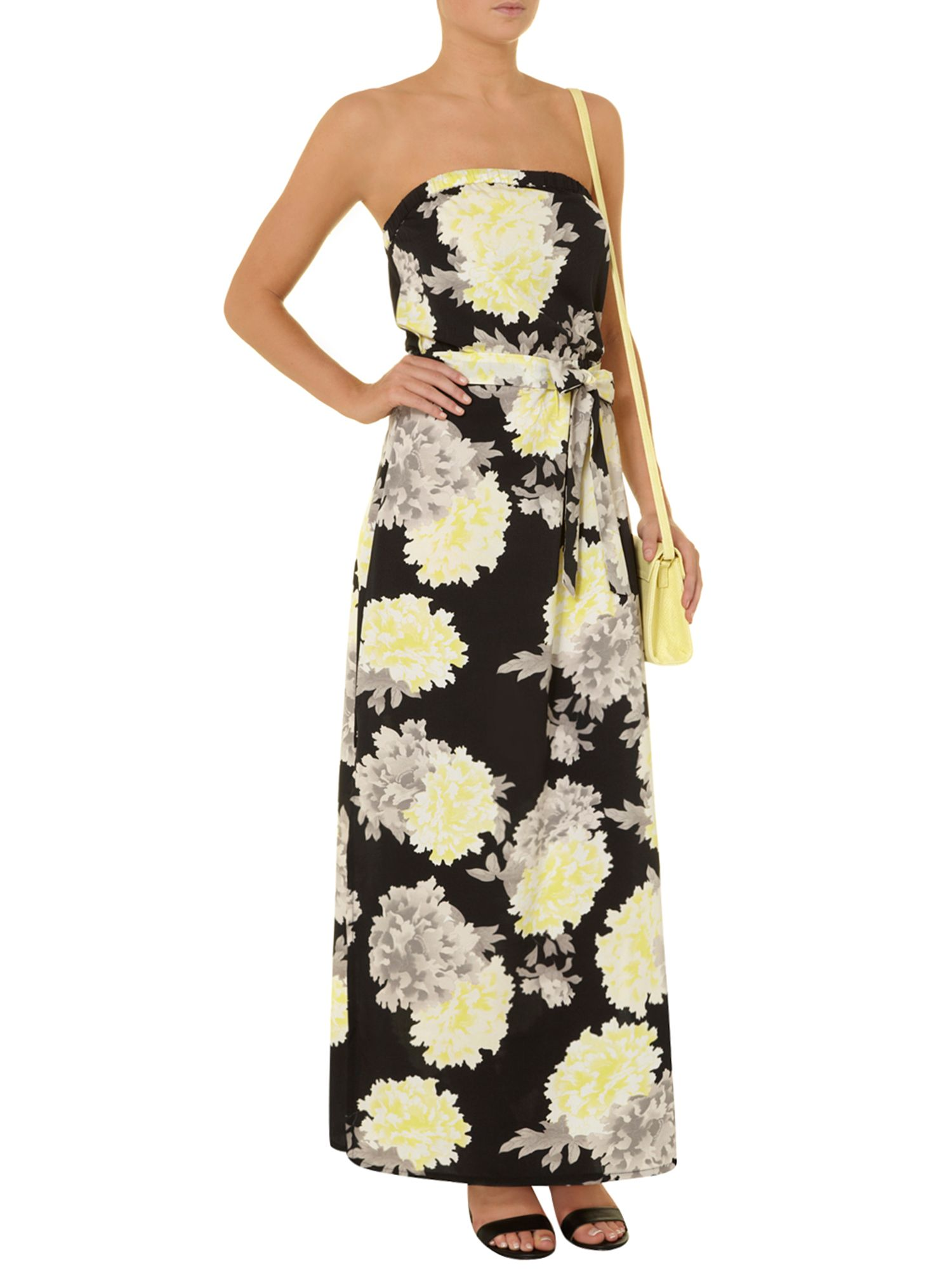 Floral bandeai maxi dress