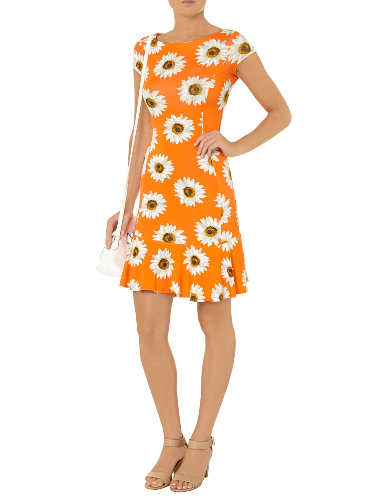 Daisy jersey pephem dress