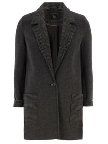 Check Boyfriend Coat