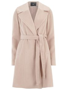 Tall Fit and Flare Tie Coat