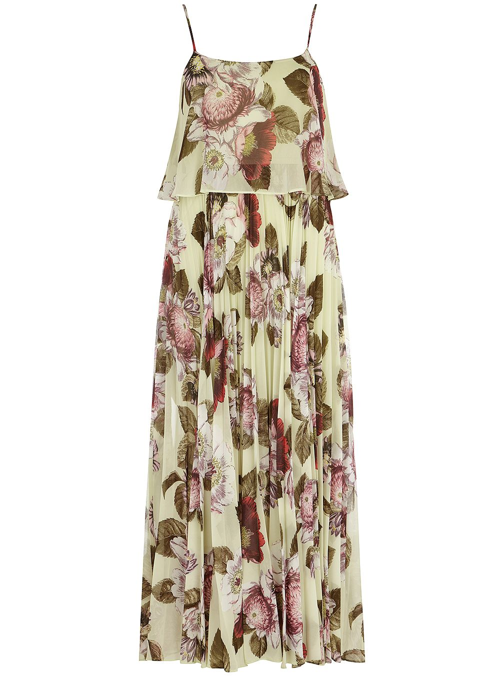 Luxe Botanic Print Maxi Dress
