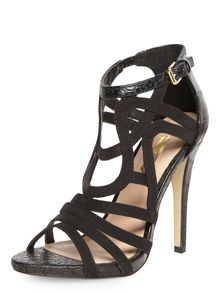 High Caged Sandal