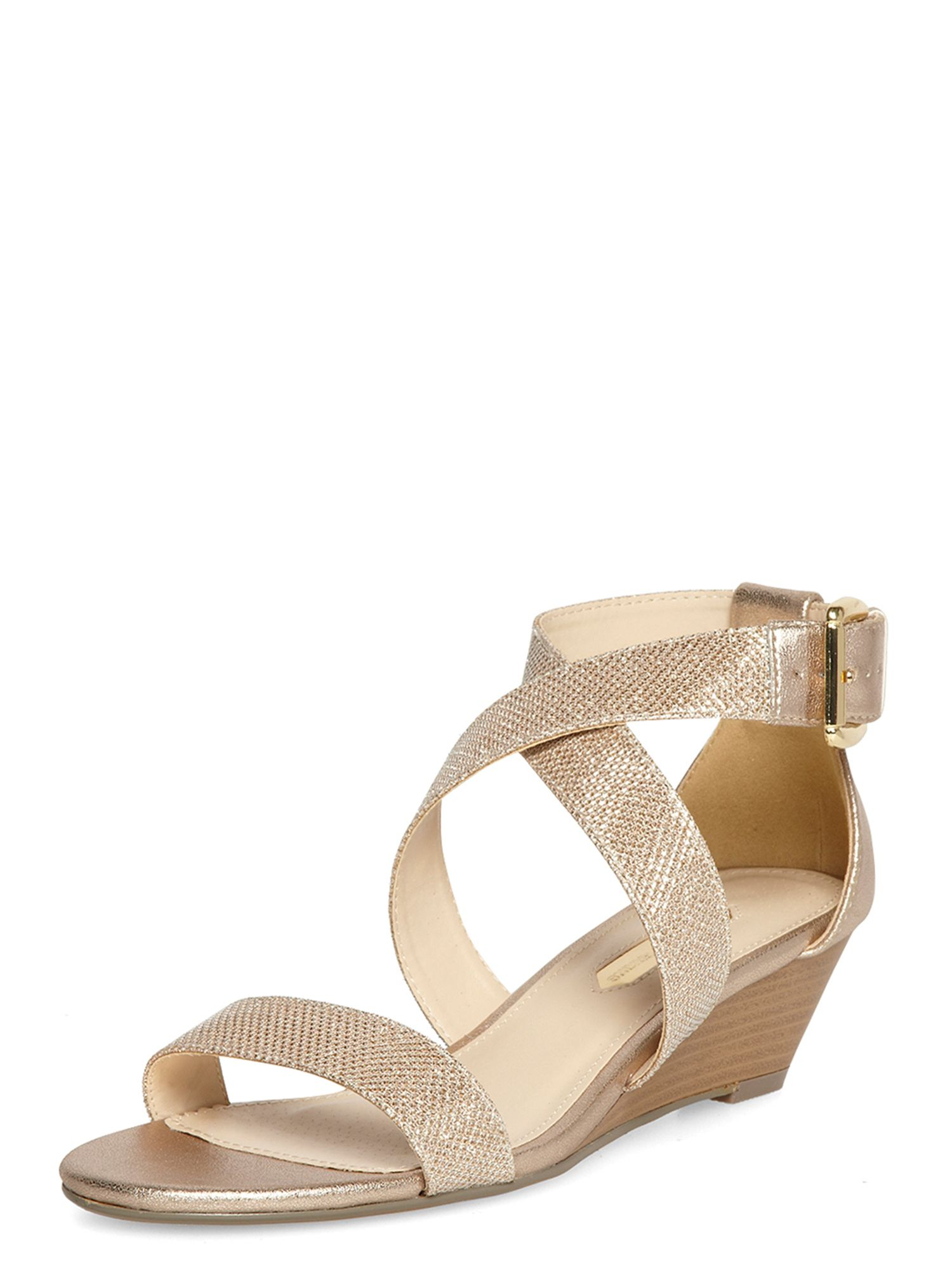 Shimmer low wedge shoe