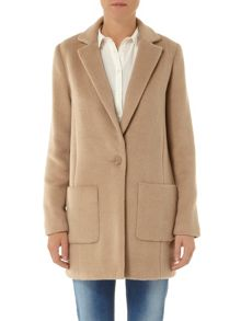 Brushed Crombie Coat