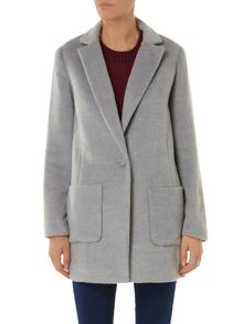 Brushed patch pocket coat