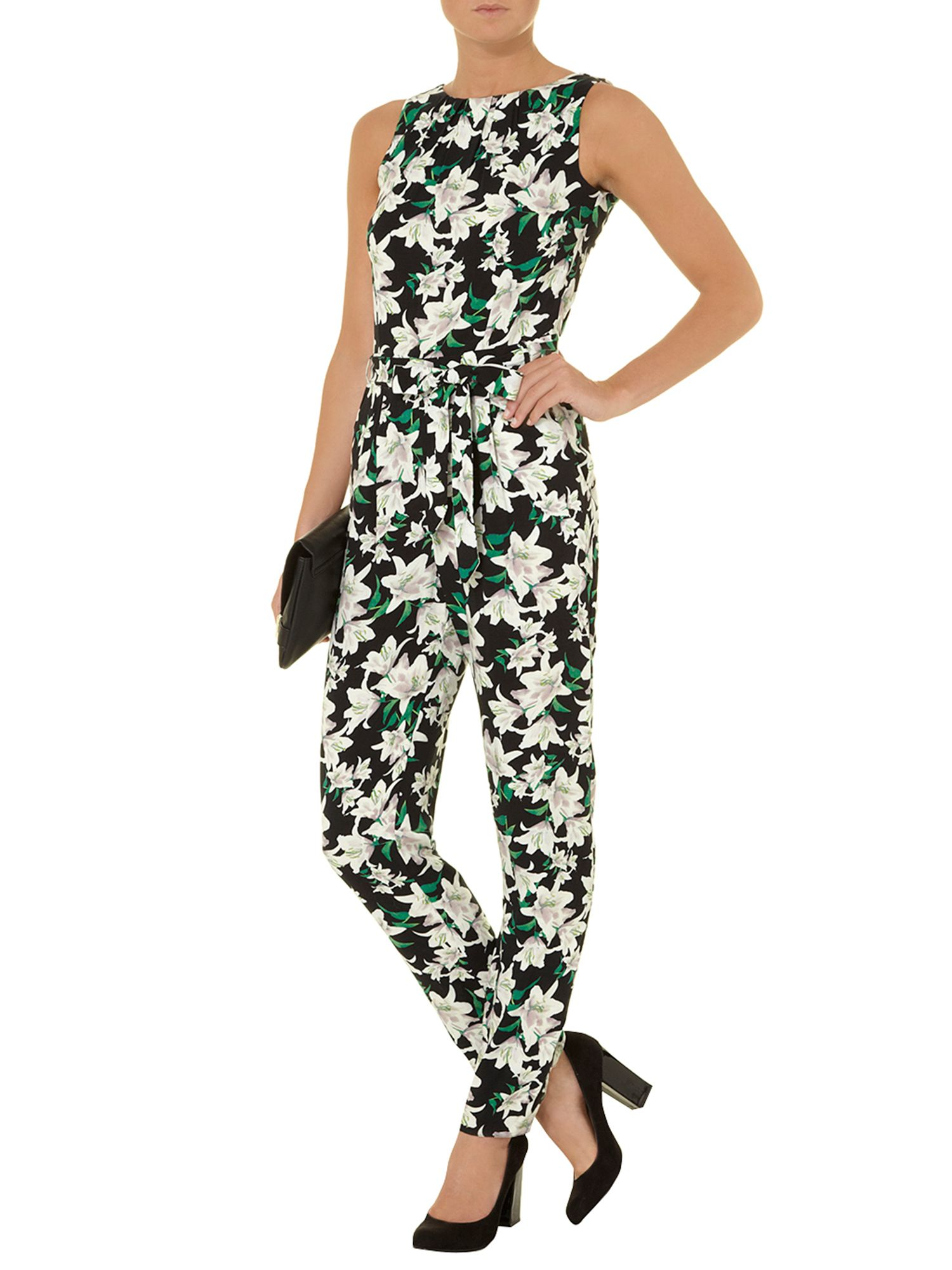 Lily print woven jumpsuit